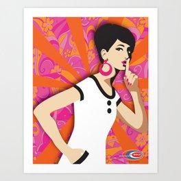 'Ssssh!' Subway Soul Art Print