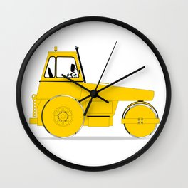 Modern Road Roller Wall Clock