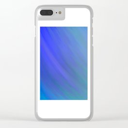 Fifty Shades of Blue Clear iPhone Case