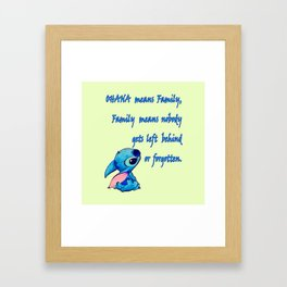 Lilo & Stitch - Ohana Quote Framed Art Print