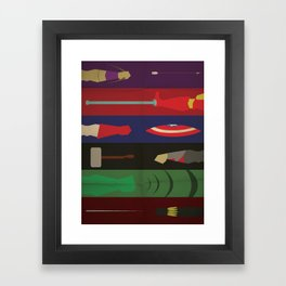 Avengers Weapons In Action - Marvel Superhero Poster Framed Art Print