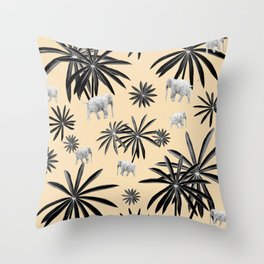 Palm Tree Elephant Jungle Pattern #2 (Kids Collection) #decor #art #society6 Throw Pillow