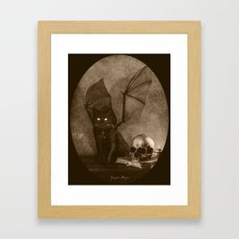 Dark Victorian Portrait: The Familiar Framed Art Print