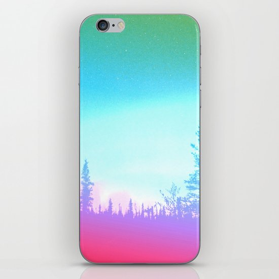 Bright Colorful Forest iPhone & iPod Skin