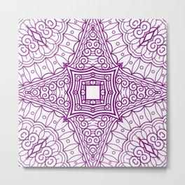 Mindful Mandala Pattern Tile MAPATI 12 Metal Print
