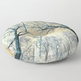 Trees nature infrared Floor Pillow