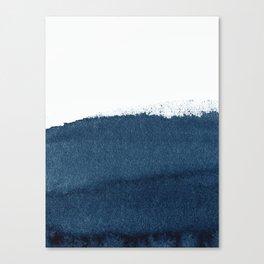 Indigo Art / Minimal Navy Print Canvas Print