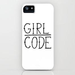 Girl Code Typography iPhone Case