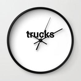 trucks Wall Clock