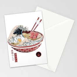 great ramen wave Stationery Cards