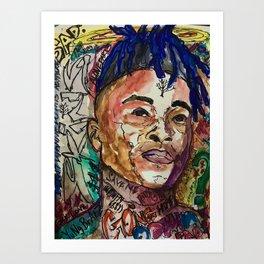 X,rapper,rip,hiphop,music icon,lyrics,colourful poster,dope,wall art,cool,shirt Art Print