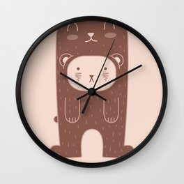 WILD + BEAR print Wall Clock