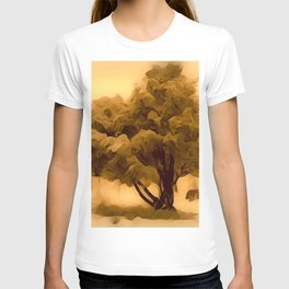 Sepia Juniper Tree by CheyAnne Sexton T-shirt
