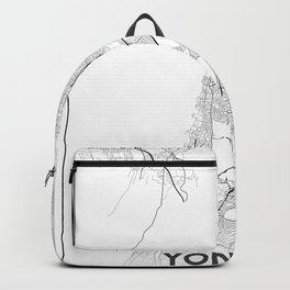 Minimal City Maps - Map Of Yonkers, New York, United States Backpack