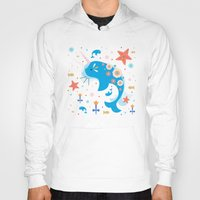 narwhal Hoodies featuring Narwhal & Babies  by Carly Watts
