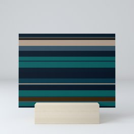 minimalistic horizontal stripes pattern hbi Mini Art Print