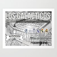 real madrid Art Prints featuring REAL MADRID by sokteulu