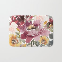 Large floral autumn Bath Mat