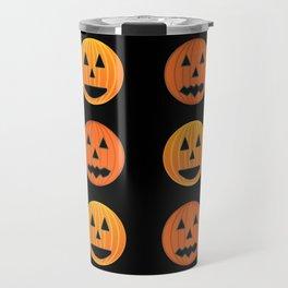 Cute orange pumpkins pattern Travel Mug