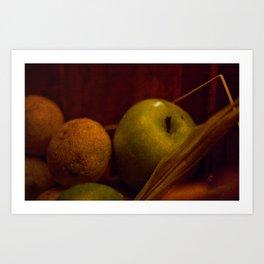 Apple and Orange Still Life Art Print