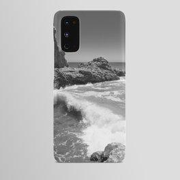 Waves crash along Rancho Palos Verdes coastline Android Case