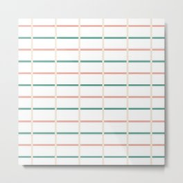 Minimal lines- vertical and horizontal Metal Print