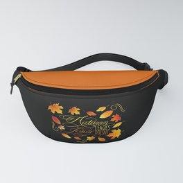 Autumn Leaves, Jesus Doesn't Funny Fall Quote Fanny Pack