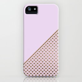 Heartless 2 - Lavender + Brass iPhone Case