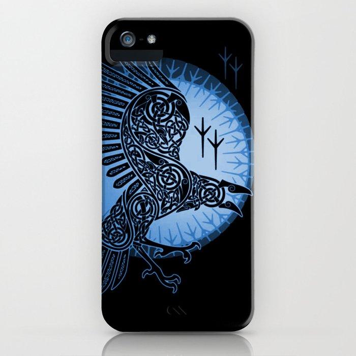 Viking Raven of Death - Blue iPhone Case