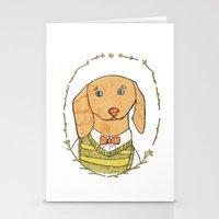 dachshund Stationery Cards featuring Dachshund by MariyArti