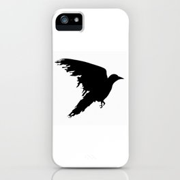 Ragged Raven Silhouette iPhone Case