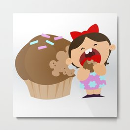 greedy Metal Print