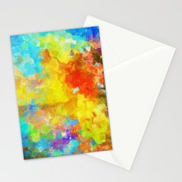 Abstract Painting with Vivid Colours Stationery Cards