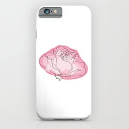 Pink rose watercolor iPhone Case