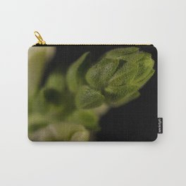 Tip of Snapdragon on Black Botanical / Nature / Floral Photograph Carry-All Pouch