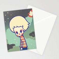 displaced person Stationery Cards