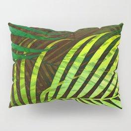 TROPICAL GREENERY LEAVES no8a Pillow Sham