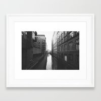 manchester Framed Art Prints featuring Manchester by John Shepherd Photography