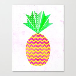 Chevron Pineapple Canvas Print