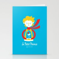 le petit prince Stationery Cards featuring Le Petit Prince by Andrea Tobar