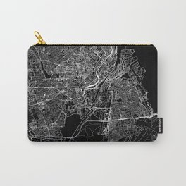 Copenhagen Black Map Carry-All Pouch