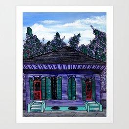 Purple Shotgun House Art Print