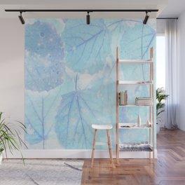 Blue autumn leaves Wall Mural