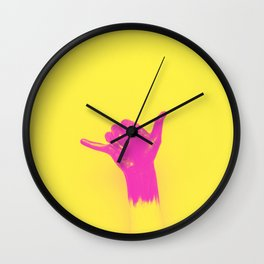 Shaka surf gesture Wall Clock