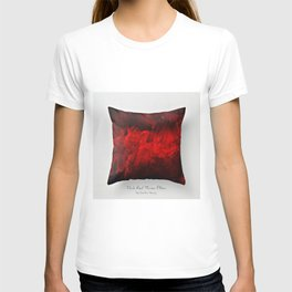 Dark Red Throw Pillow Art Print 3.0 #postmodernism #society6 #art T-shirt
