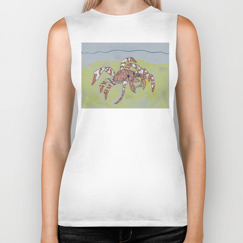 Spider Crab Biker Tank by Ryanvangogh BKT8490487