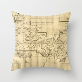 Vintage Map of The Grand Canyon (1908) Throw Pillow