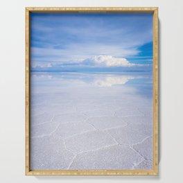 Salar de Uyuni desert, Bolivia Serving Tray