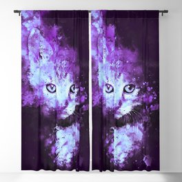 abstract young cat wsdp Blackout Curtain