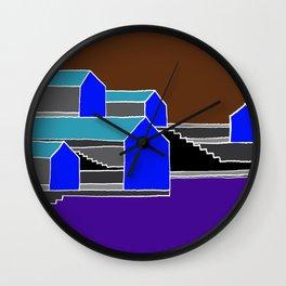 Black Stairs Wall Clock